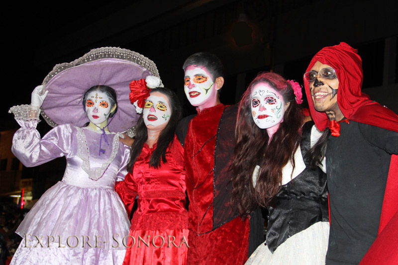 youth celebrating day of the dead in sonora
