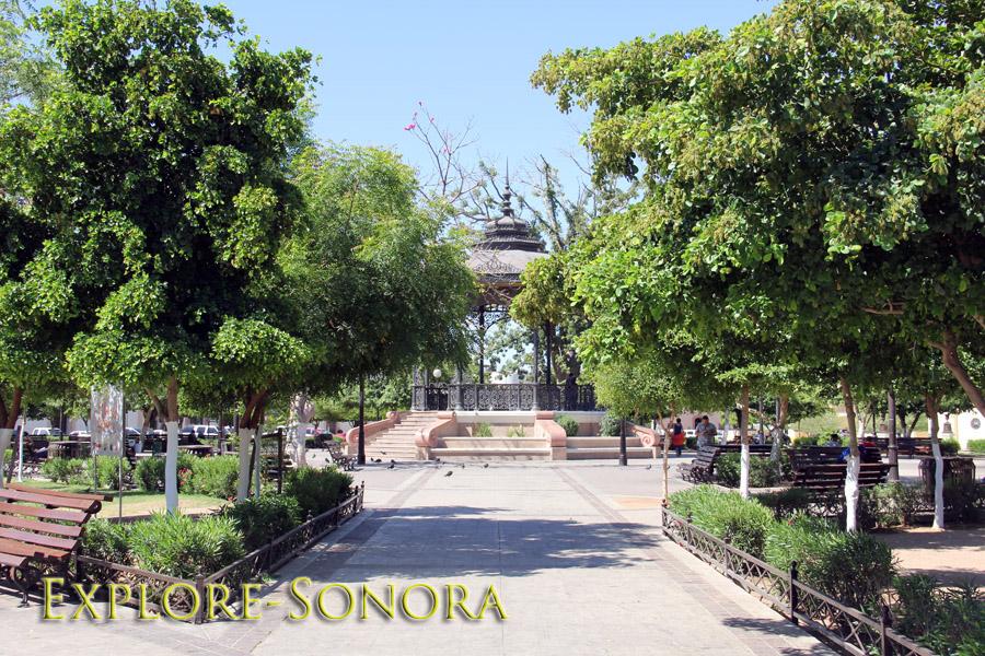 Plaza Zaragoza in Hermosillo, Sonora, Mexico