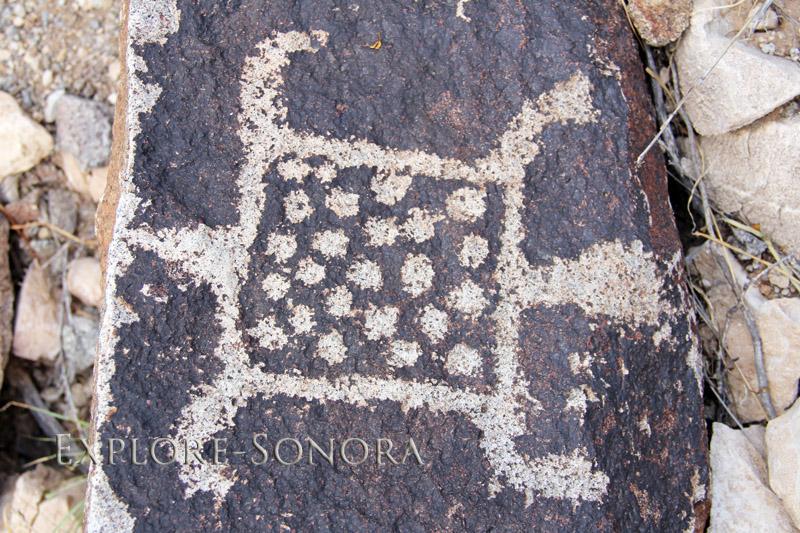 Rock art petroglyphs near Caborca, Sonora