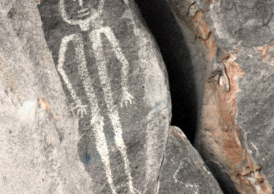 human form petroglyph near Caborca, Sonora, Mexico