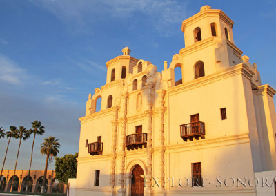 The historic temple in Caborca, Sonora