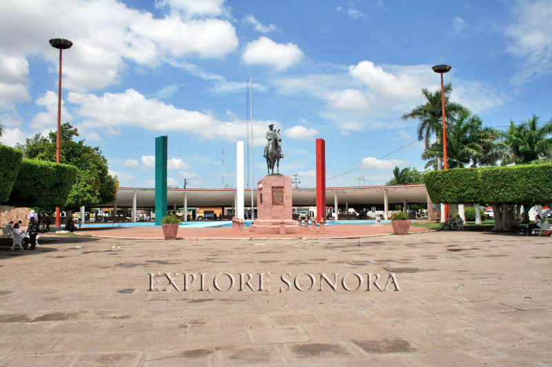 City plaza in Ciudad Obregon, Sonora