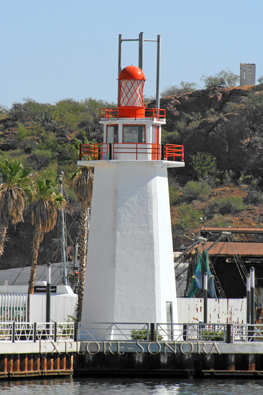 the coastal lighthouse in Guaymas, Sonora
