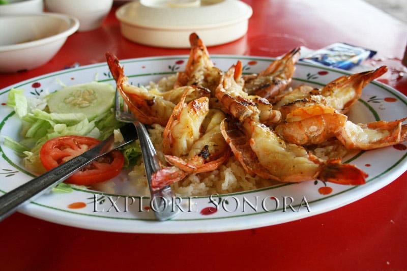 coastal sonora shrimp dish