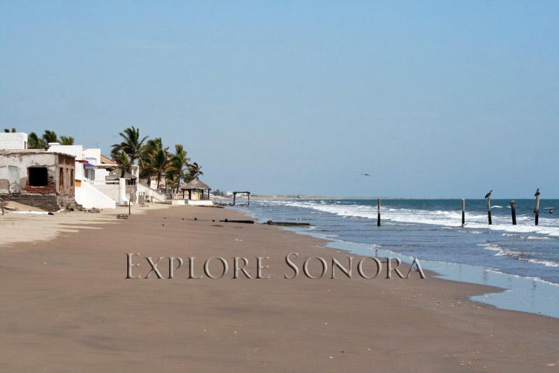 The beach at Huatabampito, Sonora