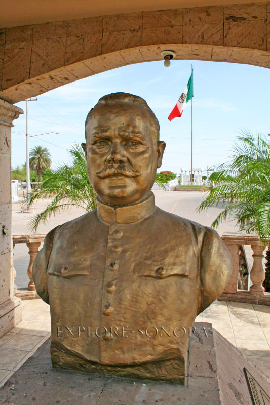 Bust of President Obregon in Huatabampo, Sonora
