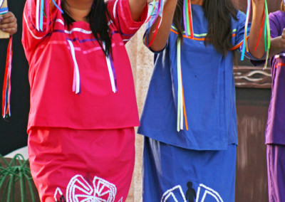 o'odham dancers perform in magdalena, sonora