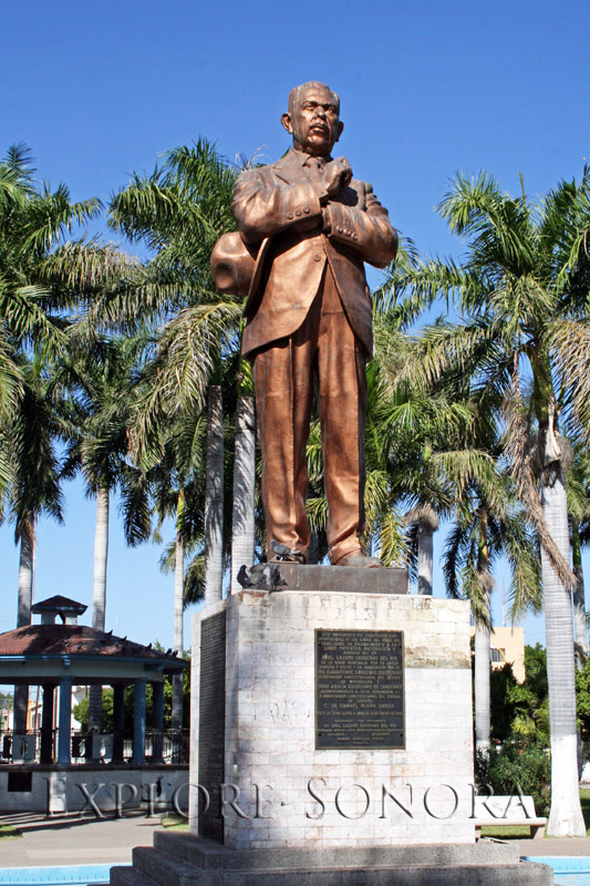 Statue of General Obregon, in a park in Ciudad Obregon, Sonora