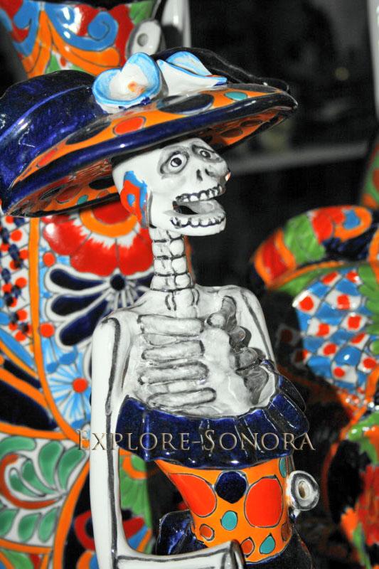 Decorative ceramic Day of the Dead catrina