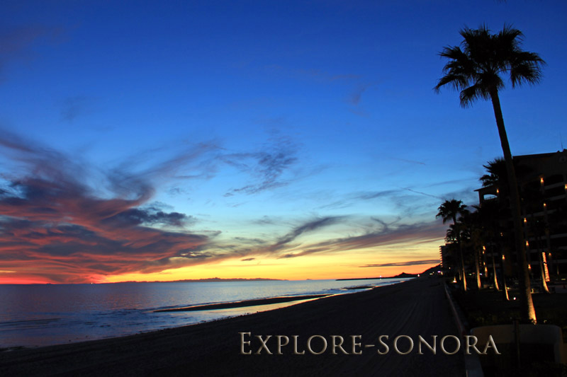 evening skies in puerto penasco sonora