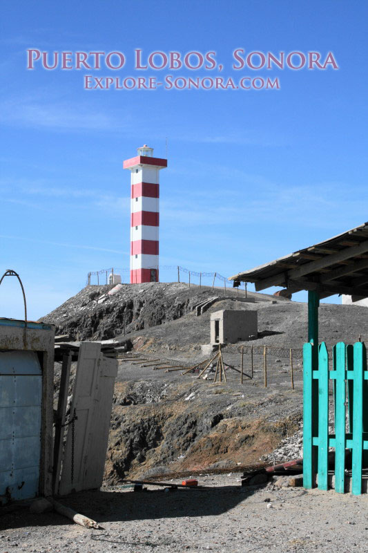 Lighthouse at Puerto Lobos, Sonora