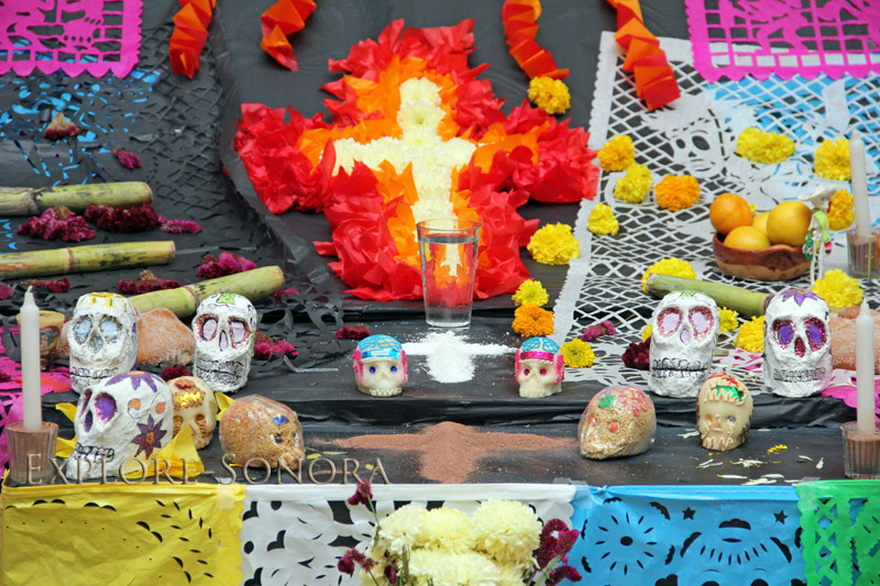 traditional elements of a day of the dead altar