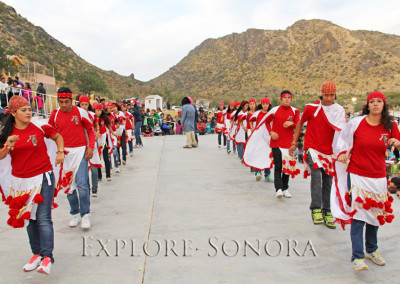 traditional dancers perform near caborca, sonora, mexico