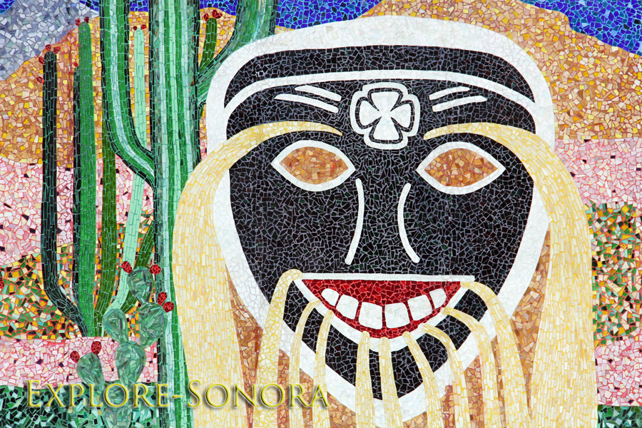 Navojoa mosaic that honors the local Mayo culture