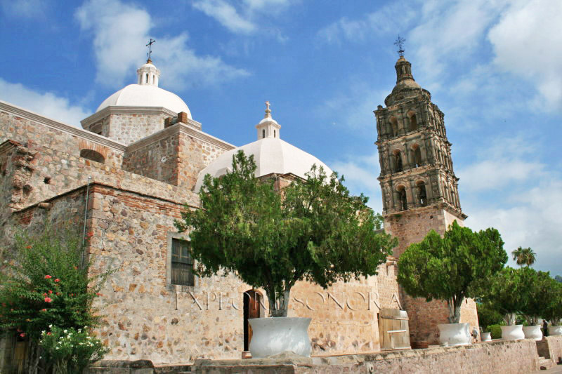 Church plaza - Alamos, Sonora, Mexico