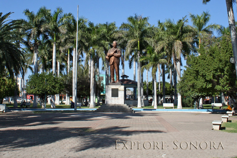 A plaza dedicated to President Obregon in Ciudad Obregon, Sonora