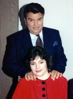 "Alina with TV personality ""Don Francisco"" - Mario Luis Kreutzberger Blumenfeld"