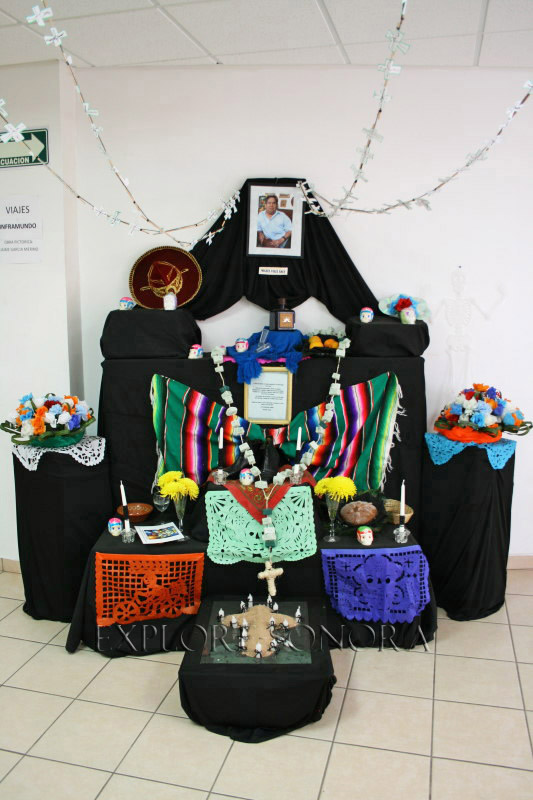 A Sonora Day of the Dead manda, or altar made by Nogales students at Imfo Culta