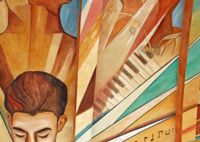 Concert shell mural in Navojoa's Plaza 5 de Mayo