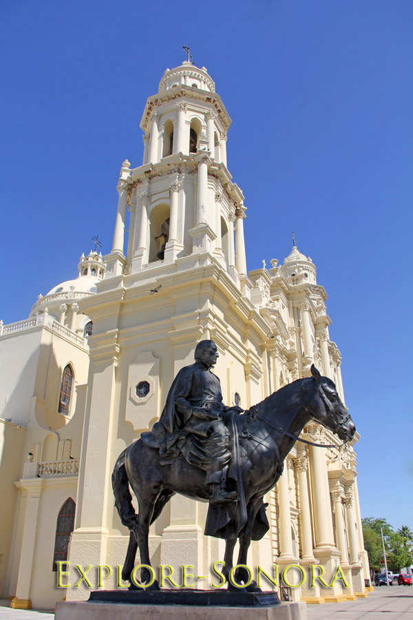 Statue of Father Eusebio Francisco Kino located by the Hermosillo Cathedral