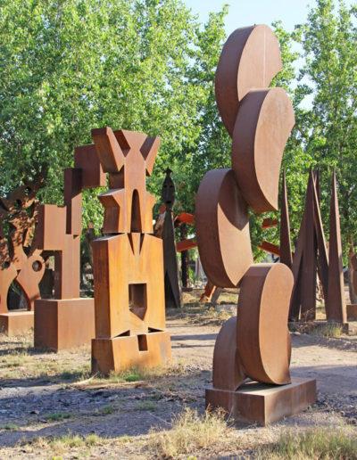 Modern metal art statues in Navojoa, Sonora, Mexico