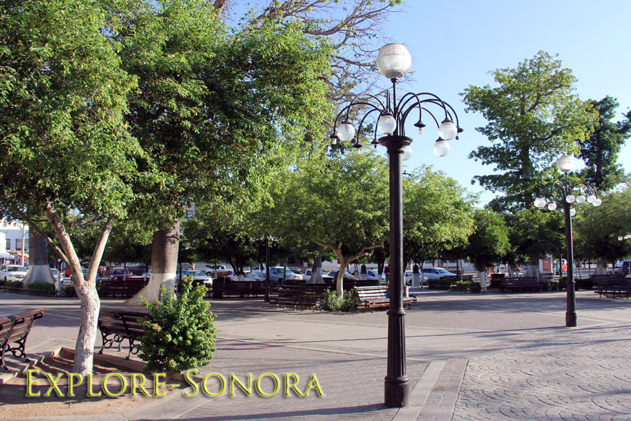 Plaza Zaragoza in Hermosillo, Sonora, Mexico