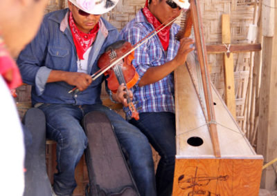 Indigenous musicians in El Júpare, Sonora, Mexico