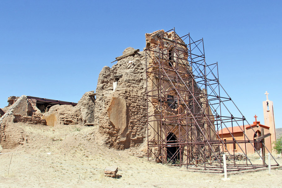 Ambos Tours - ruins of the mission at Cocospera, Sonora, Mexico