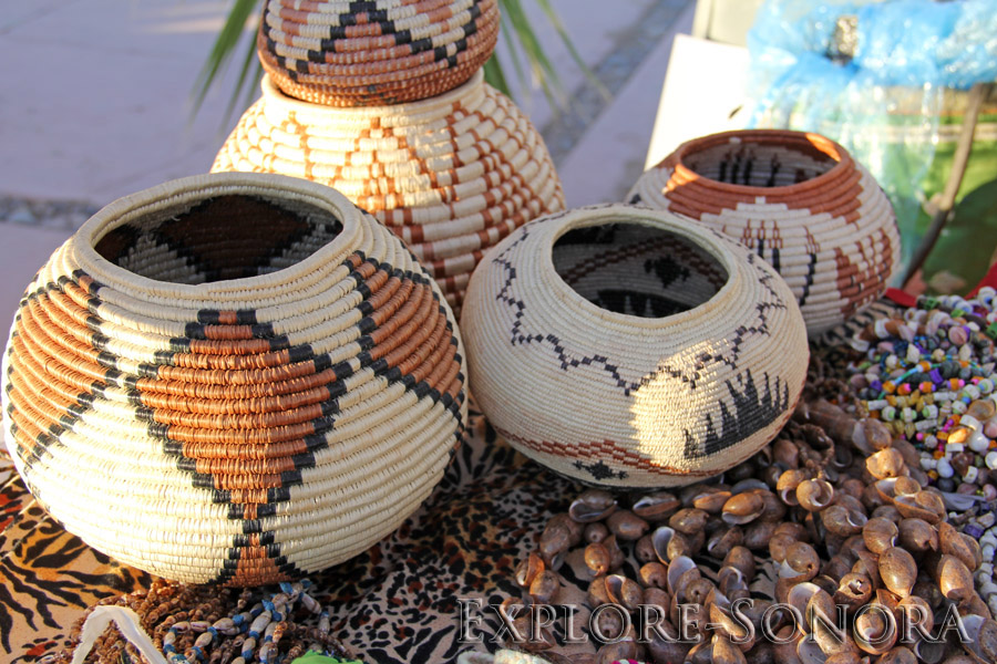 indigenous peoples of sonora, mexico - seri basket weaving