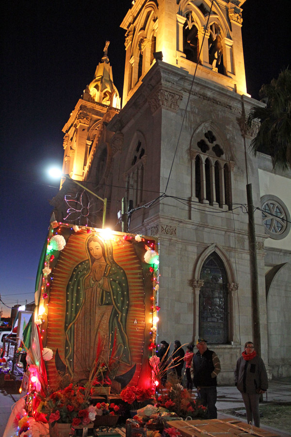 Peregrination for the Virgin of Guadalupe in Santa Ana, Sonora, Mexico