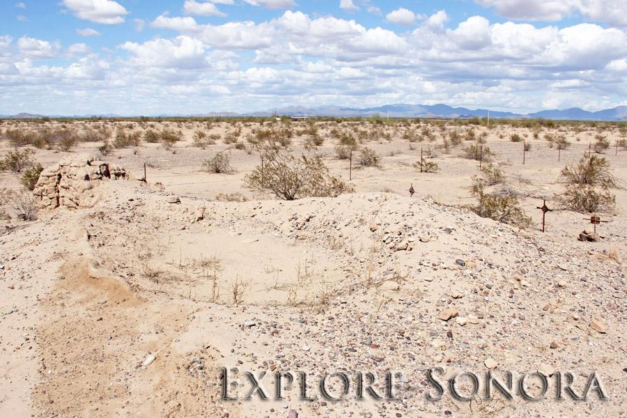 The ruins of Kino mission San Valentin del Bizani, near Caborca, Sonora, Mexico