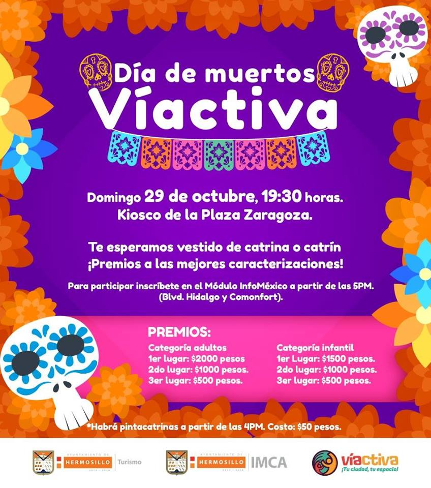 Day of the Dead 2017 in Hermosillo, Sonora, Mexico