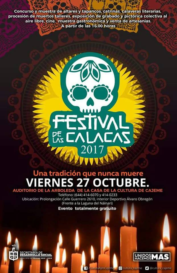 Day of the Dead 2017 in Ciudad Obregon, Sonora, Mexico