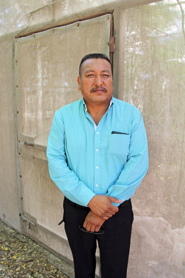 Sr. Antolin Vazquez, project director for the conservatory restoration project