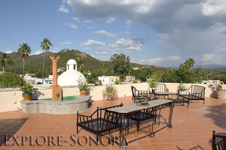 Rooftop of the Alamos Hotel Colonial in Alamos, Sonora, Mexico