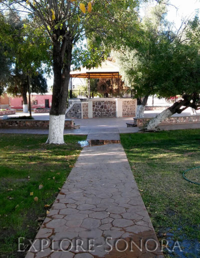 The Rio Sonora pueblo of Huépac, Sonora, Mexico