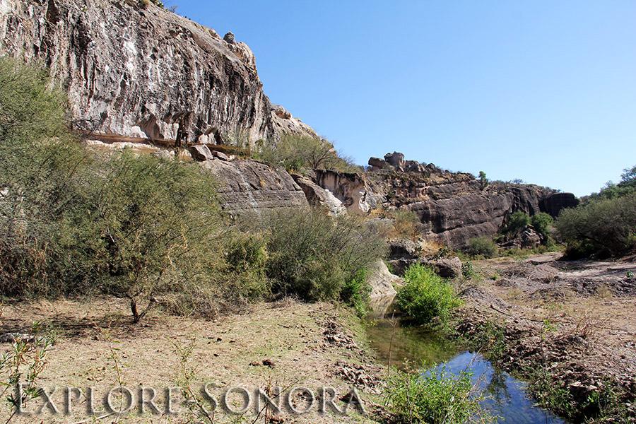 Riverbed scenery in Cucurpe, Sonora